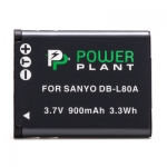 Аккумулятор PowerPlant Sanyo DB-L80, D-Li88 900mAh