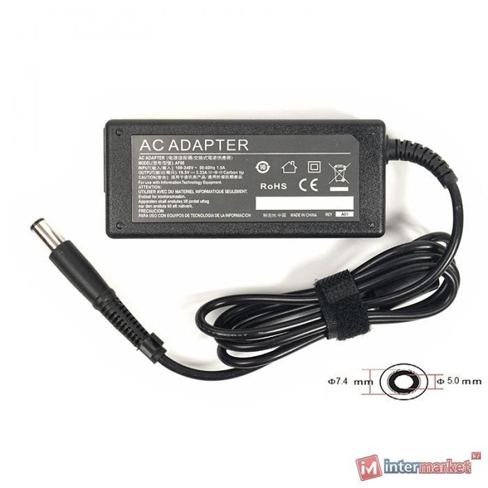 Блок питания для ноутбуков PowerPlant HP 220V, 19.5V 65W 3.33A (7.45.0)