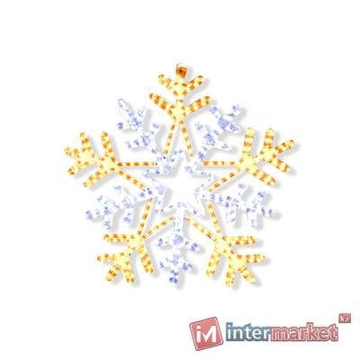Декорация светодиодная Снежинка 0,75м тепло/холоднобелая