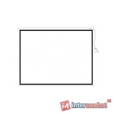 Экран моторизированный (с пультом Д/У), Deluxe, DLS-ERC305x229W, Настенный/потолочный, Рабочая поверхность 297x221 см., 4:3, Matt white, Белый
