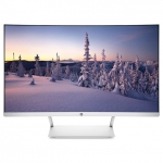 Монитор HP Curved, White-Silver