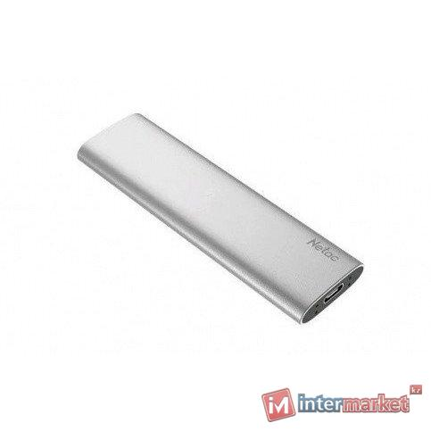 Жесткий диск SSD внешний 500GB Netac ZSLIM/500GB серебро